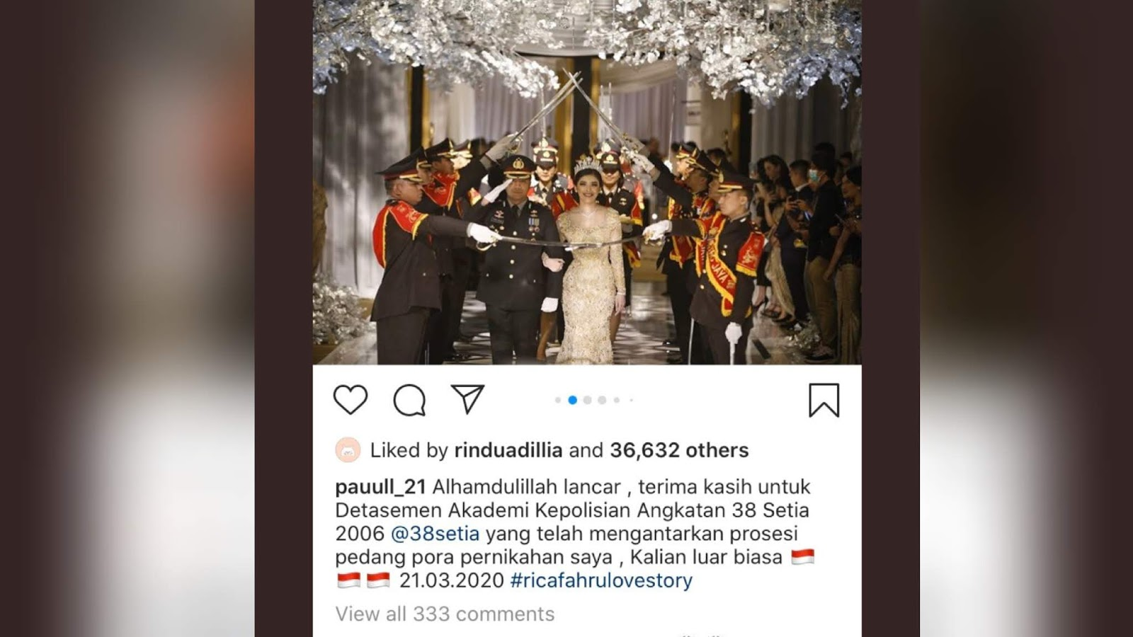 Viral Anggota Polisi Gelar Pernikahan Di Tengah Wabah Virus Corona Kumbanews Com